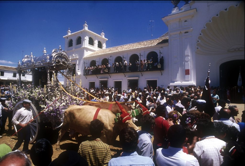 Romeria del Rocío aankomst